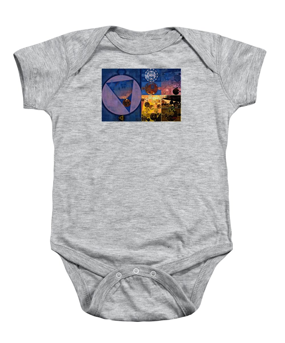 Oil Paint Baby Onesie featuring the digital art Abstract Painting - Zinnwaldite Brown by Vitaliy Gladkiy