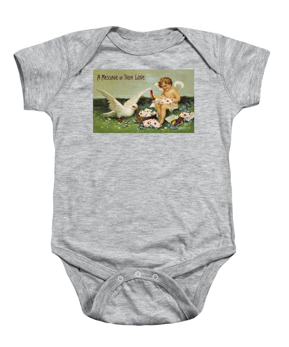1910 Baby Onesie featuring the photograph Valentines Day Card by Granger