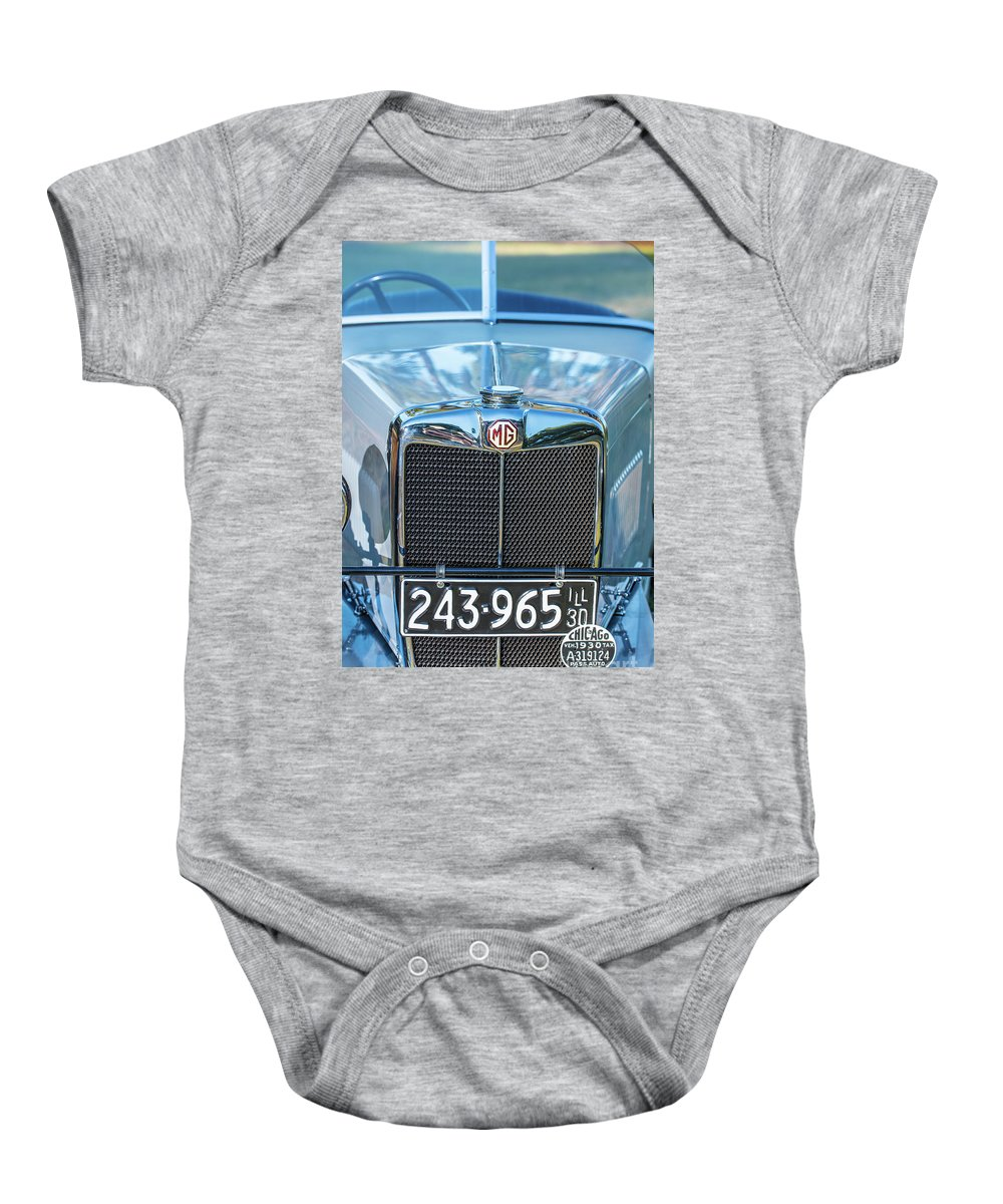 1930 Mg Baby Onesie featuring the photograph 1743.040 1930 Mg Classic Car by M K Miller