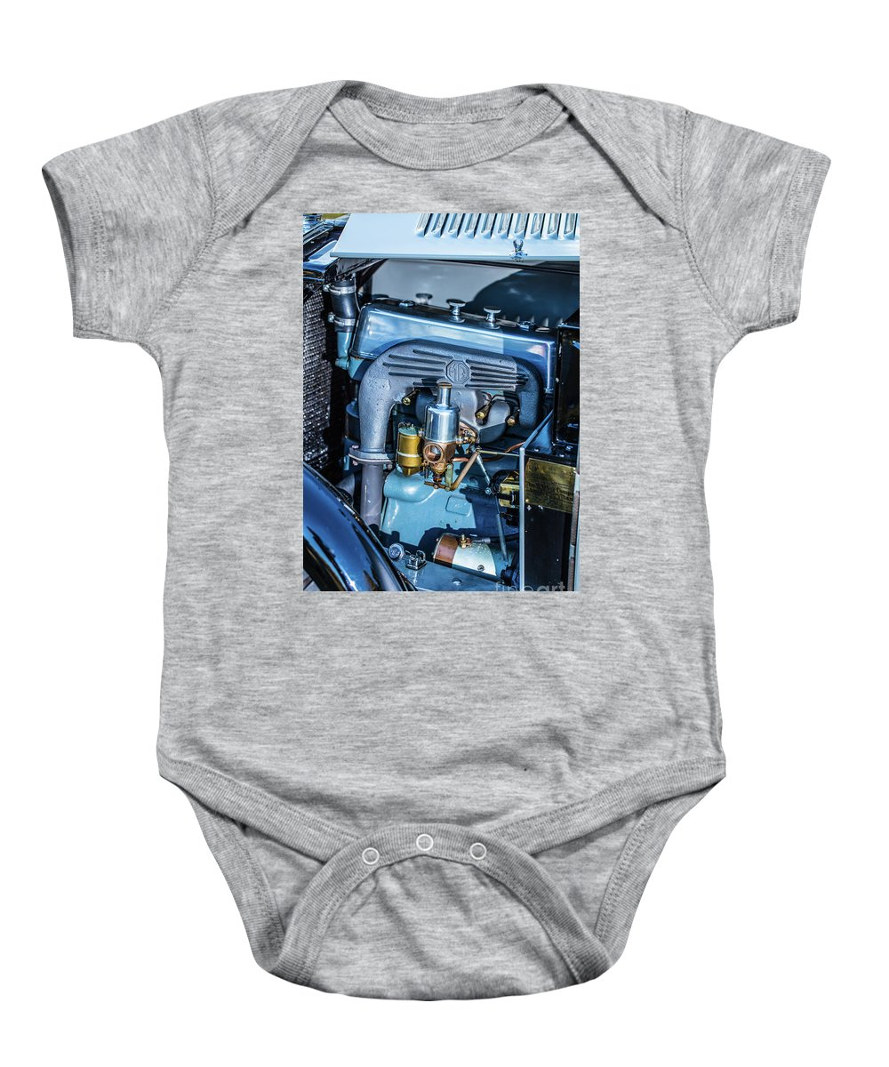 1930 Mg Baby Onesie featuring the photograph 1743.047 Inside1930 Mg by M K Miller