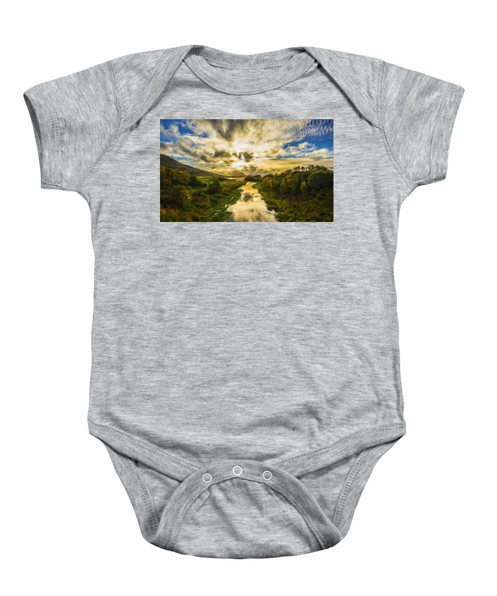New Baby Onesie featuring the digital art Landscape Color by Usa Map