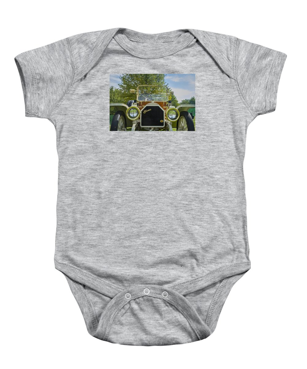 Antique Baby Onesie featuring the photograph 1911 Stearns by Jack R Perry