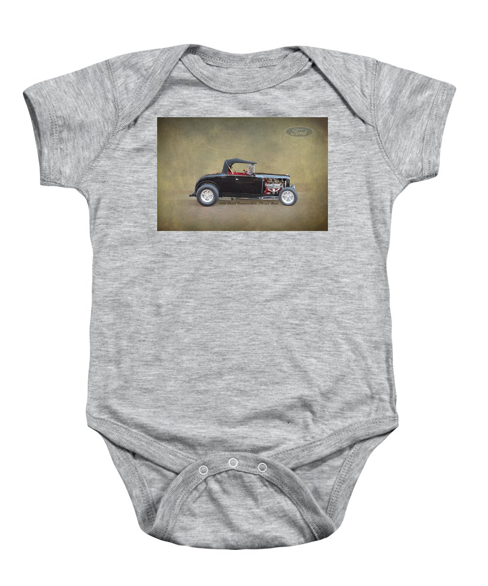 Ford Baby Onesie featuring the photograph 1932 Ford Convertible Street Rod by J Darrell Hutto