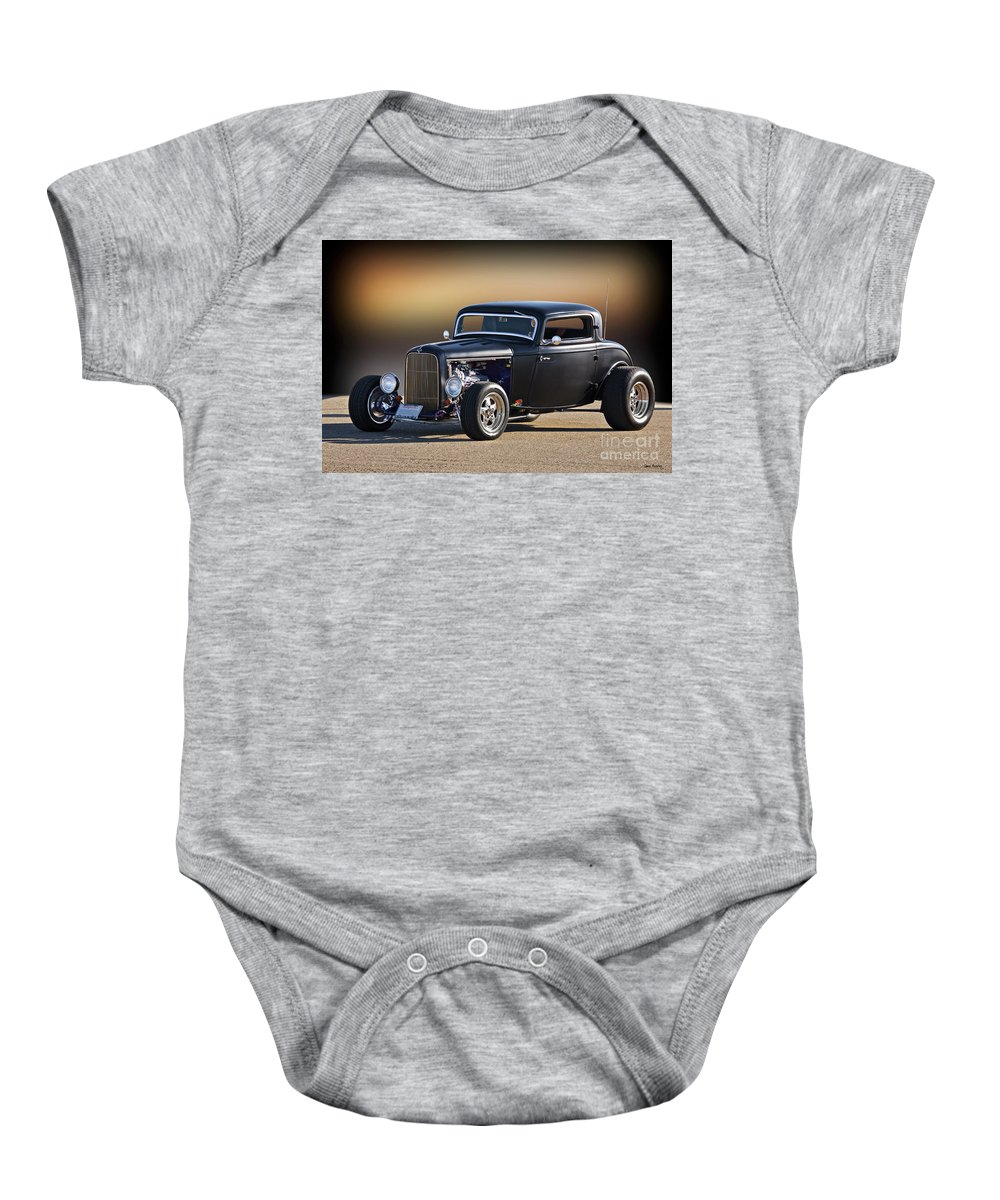 Auto Baby Onesie featuring the photograph 1932 Ford 'silky Satin' Coupe I by Dave Koontz