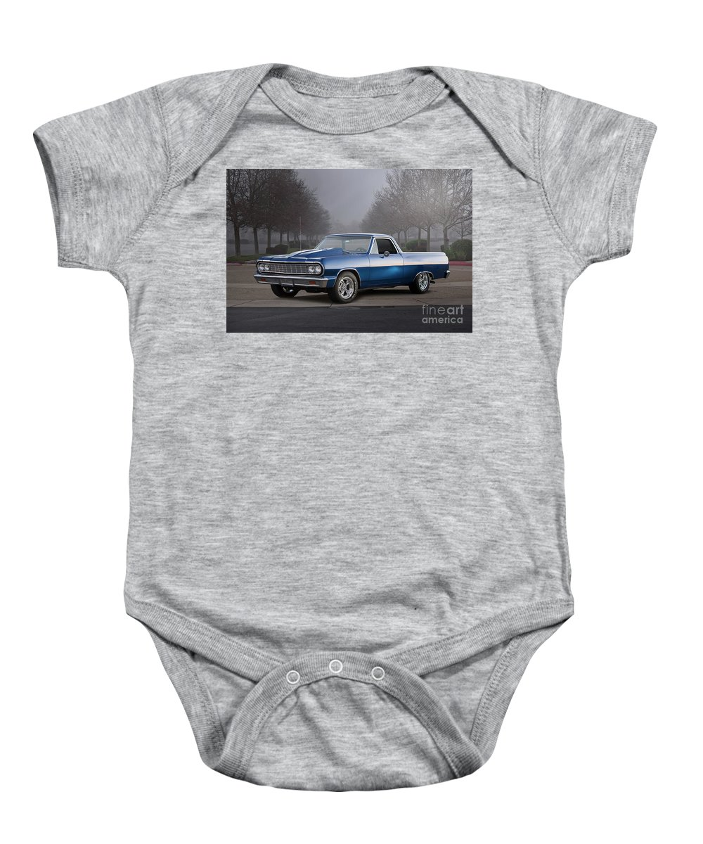 Automobile Baby Onesie featuring the photograph 1964 Chevrolet El Camino IIi by Dave Koontz