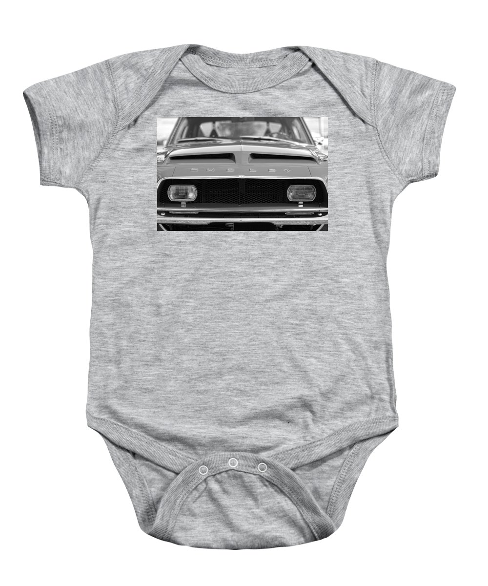 1968 Baby Onesie featuring the photograph 1968 Ford Mustang Shelby Gt500 Kr - King Of The Road by Gordon Dean II