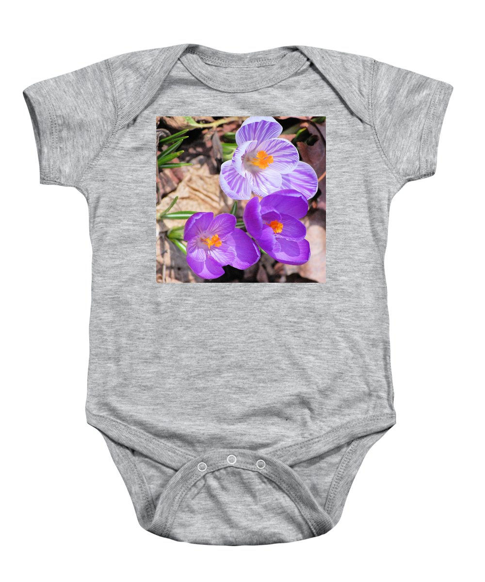Digital Photography Baby Onesie featuring the photograph 1st Flower In Garden 2010 Photo by David Lane