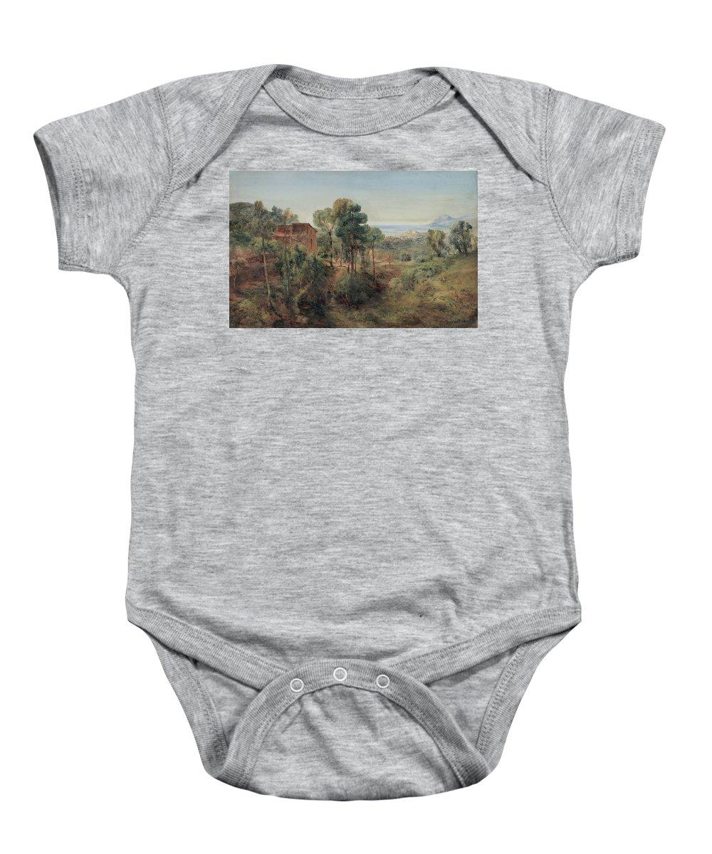 Bernard Walter Evans (wolverhampton 1843 - Londra 1922) Baby Onesie featuring the painting Bernard Walter Evans by MotionAge Designs