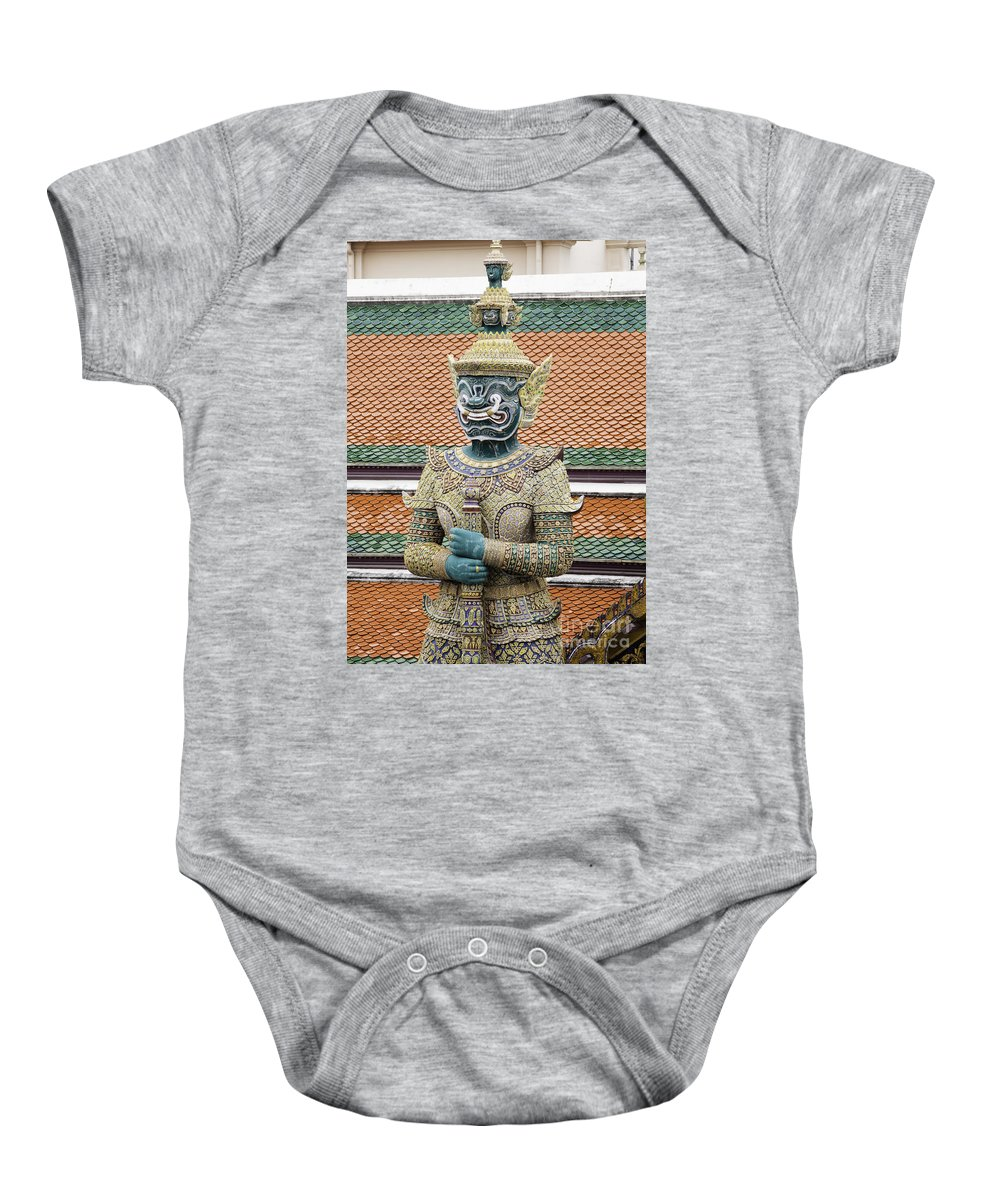 Baby Onesie featuring the photograph Detail From A Buddhist Temple In Bangkok Thailand by Anthony Totah