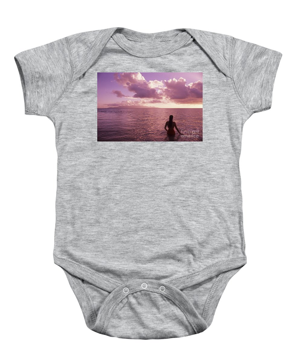 Back Baby Onesie featuring the photograph Fiji, Wakaya Island by Larry Dale Gordon - Printscapes