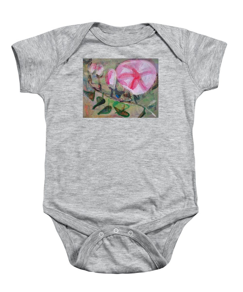 Baby Onesie featuring the painting Flower by Oana Maria