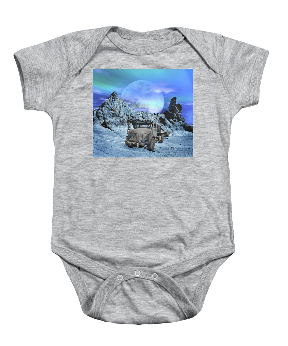 Old Baby Onesie featuring the photograph Forgotten by Manfred Lutzius