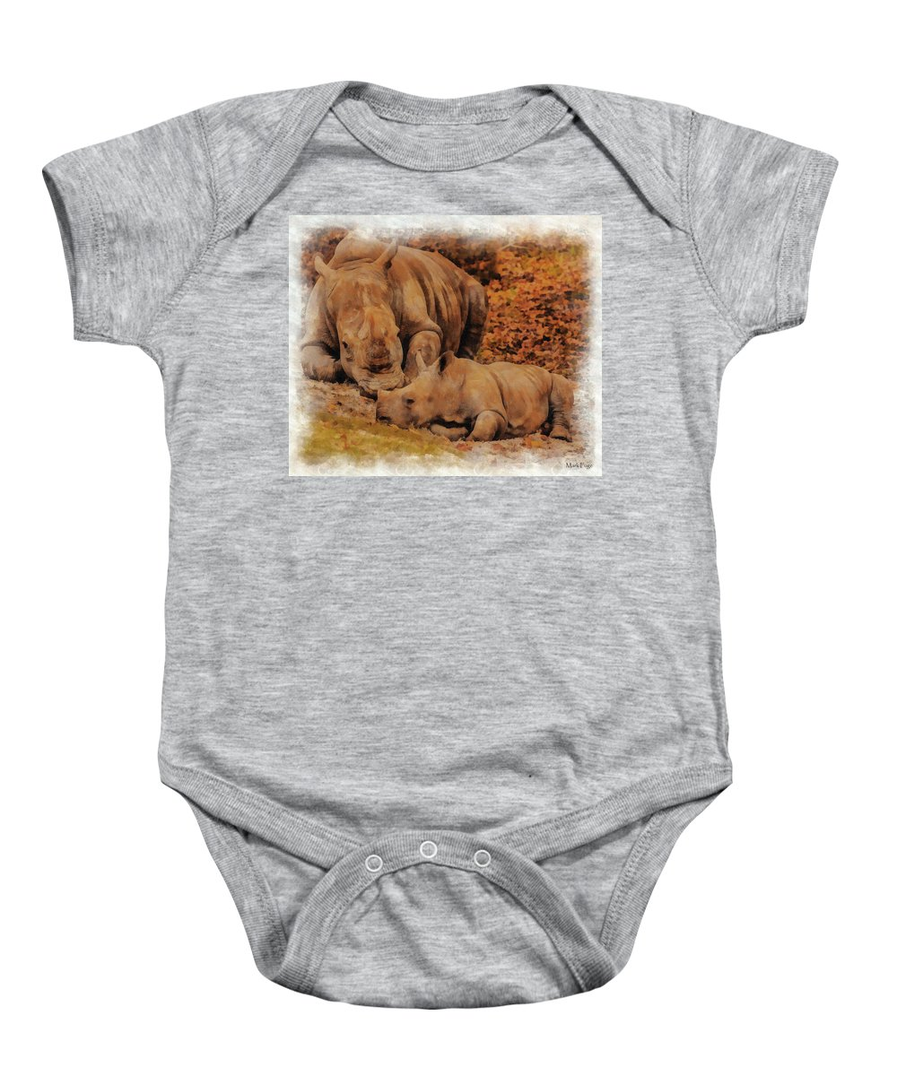 Florida Baby Onesie featuring the photograph Jazi And Mom by Mark Fuge