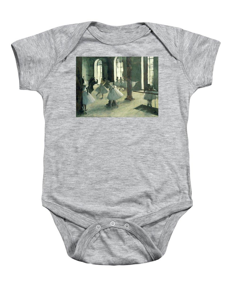 Dance Baby Onesie featuring the painting La Repetition Au Foyer De La Danse by Edgar Degas