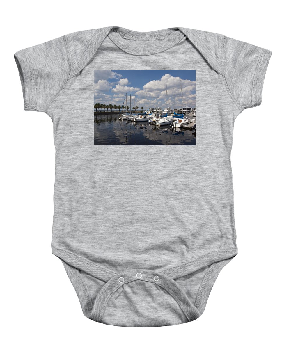 Lake Baby Onesie featuring the photograph Lake Monroe At The Port Of Sanford Florida by Allan Hughes