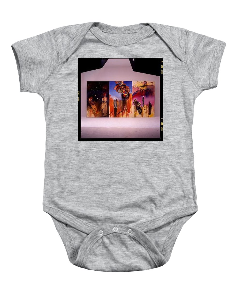Canvas Baby Onesie featuring the painting Love Hurts by Charles Stuart