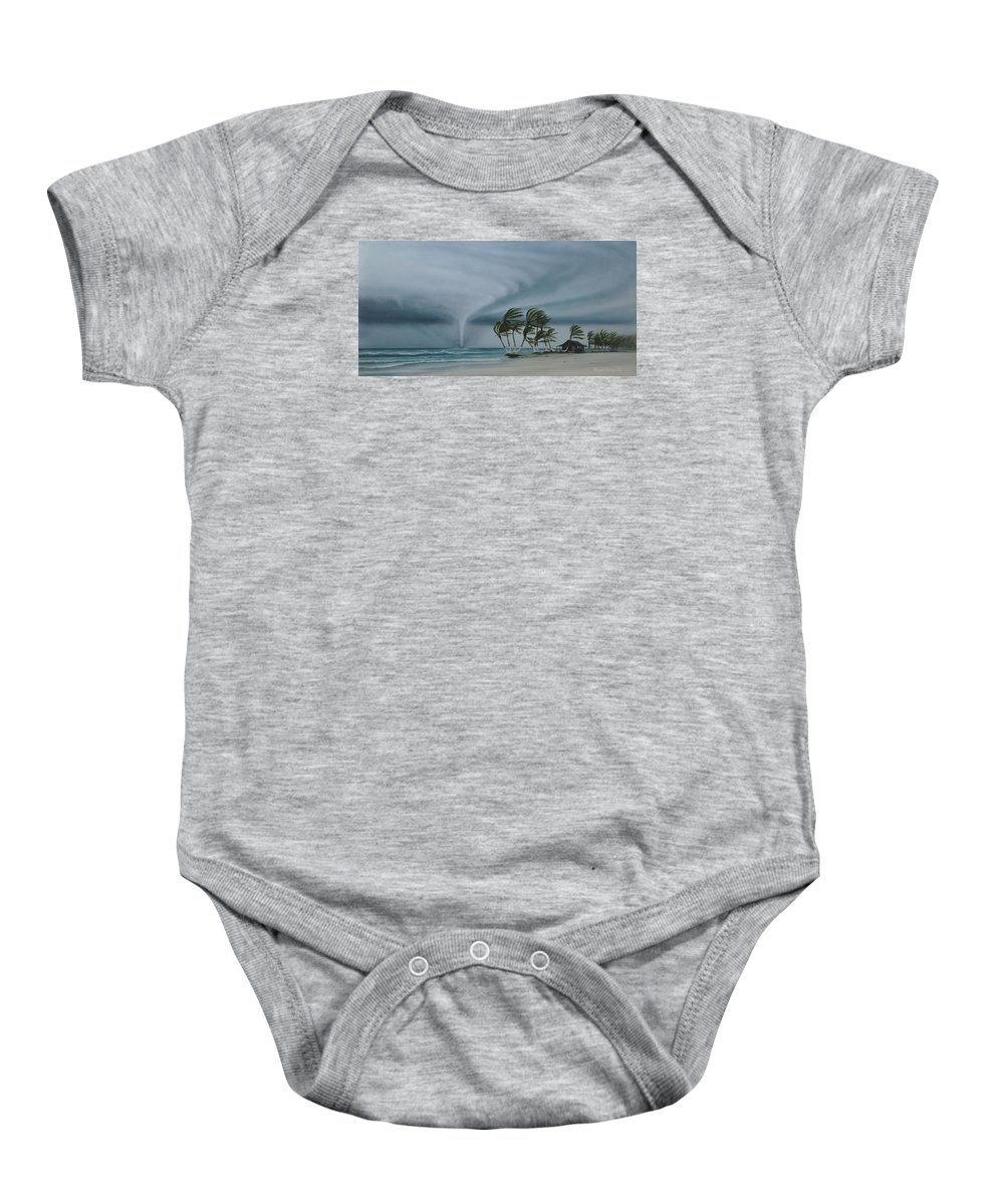 Baby Onesie featuring the painting Mahahual by Angel Ortiz