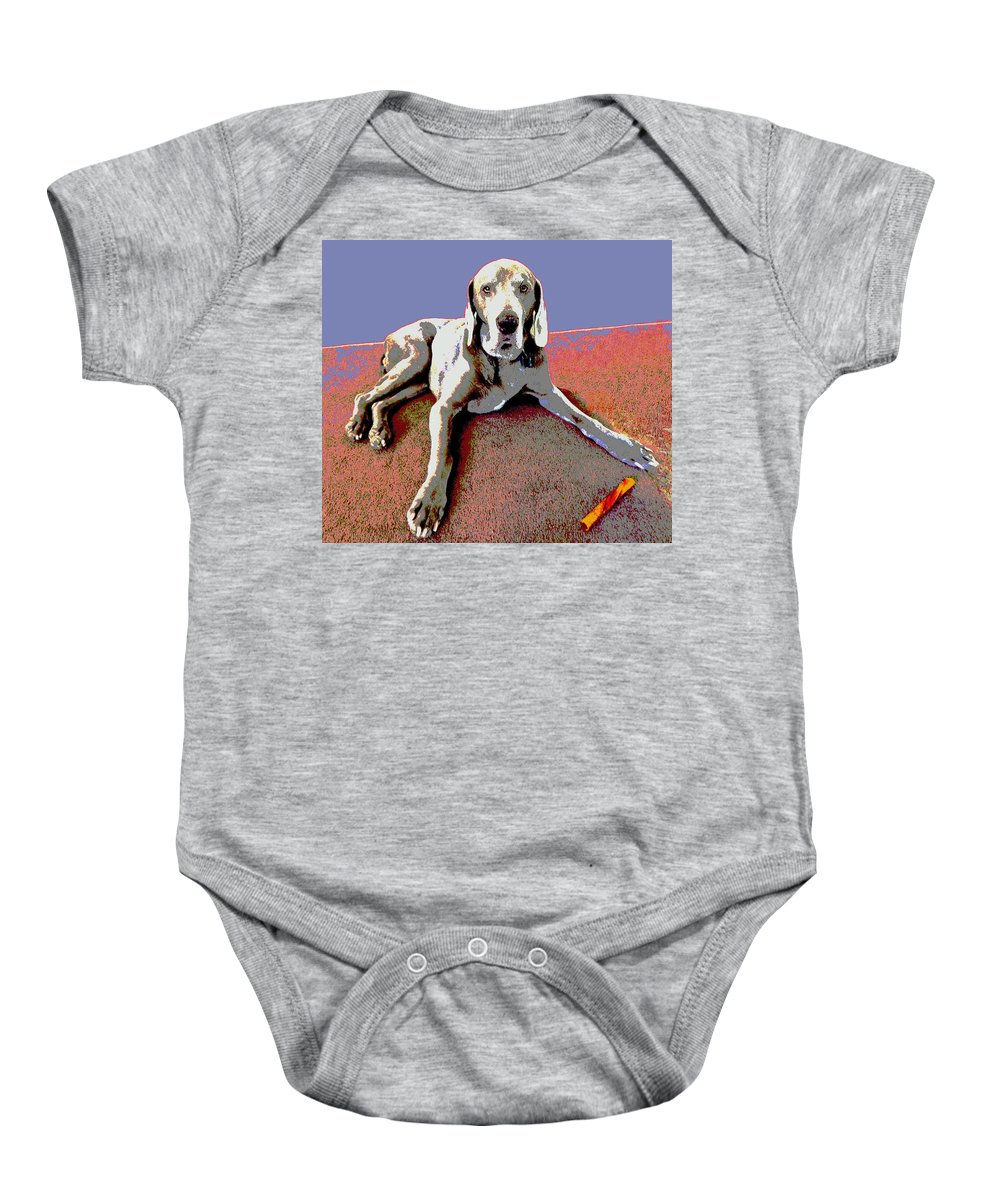 Dog Baby Onesie featuring the photograph Martina by Julie Niemela