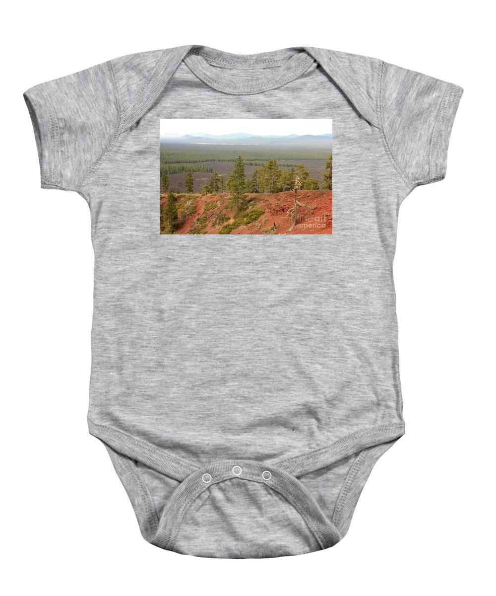 Oregon Baby Onesie featuring the photograph Oregon Landscape - View From Lava Butte by Carol Groenen