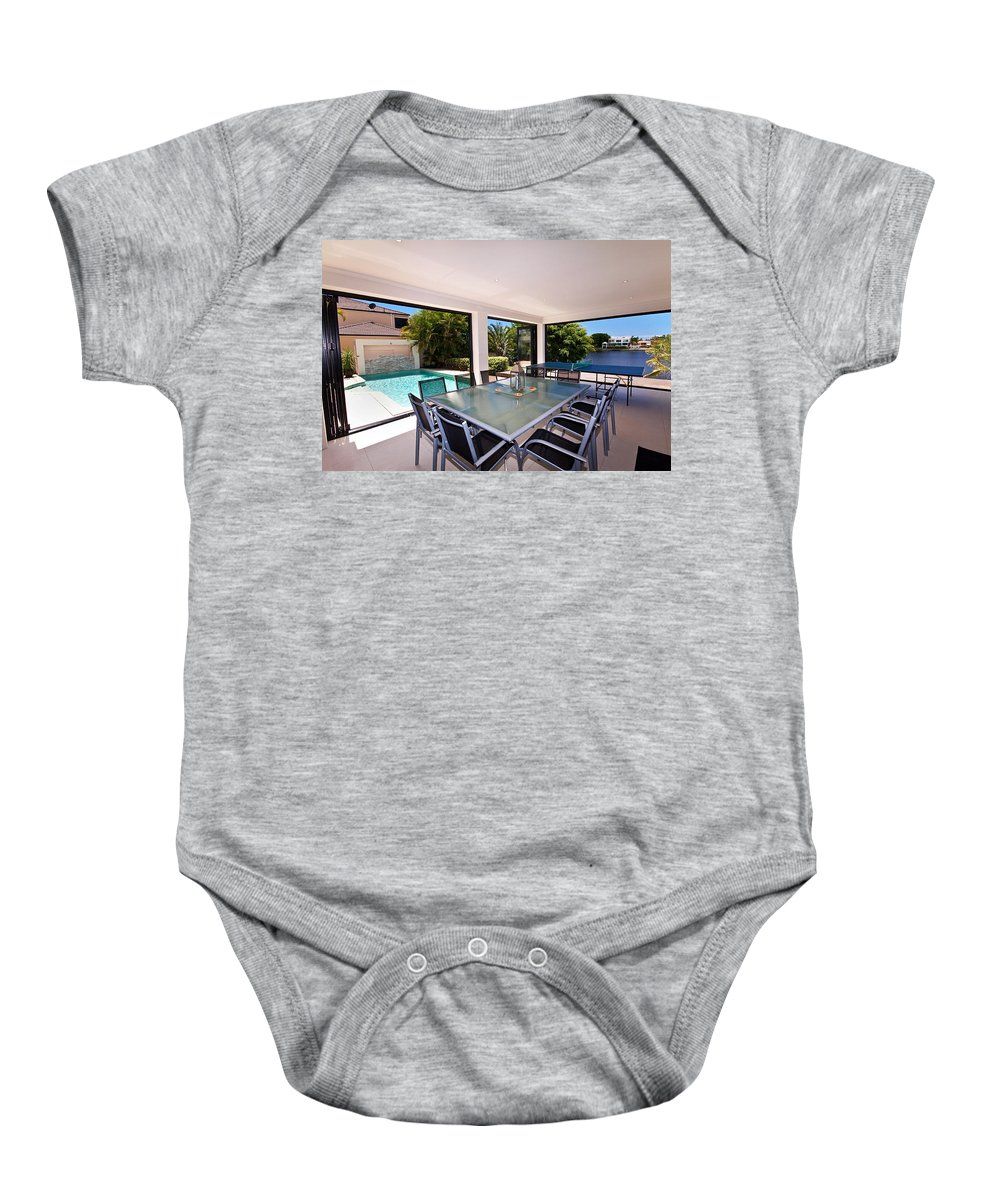 Swimming Baby Onesie featuring the photograph Outdoor Living by Darren Burton