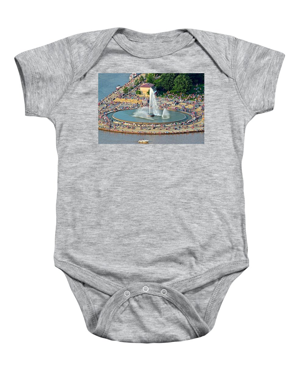 Pittsburgh Baby Onesie featuring the photograph Point State Park by Frozen in Time Fine Art Photography