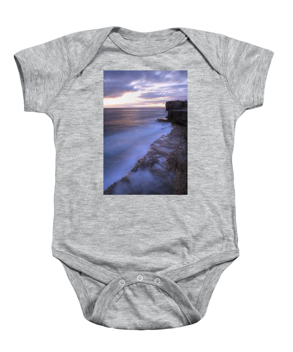 Portland Baby Onesie featuring the photograph Portland Bill Seascapes by Ian Middleton
