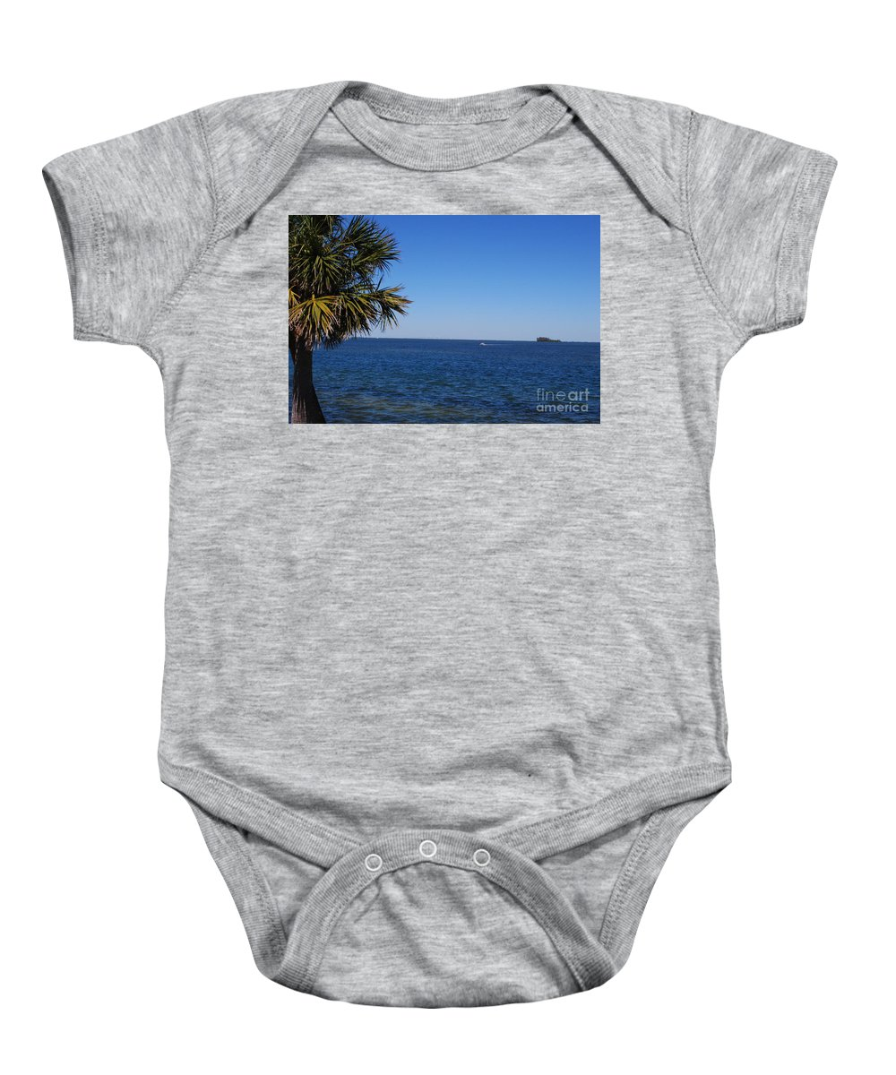 Blue Baby Onesie featuring the photograph Sarasota Bay by Gary Wonning