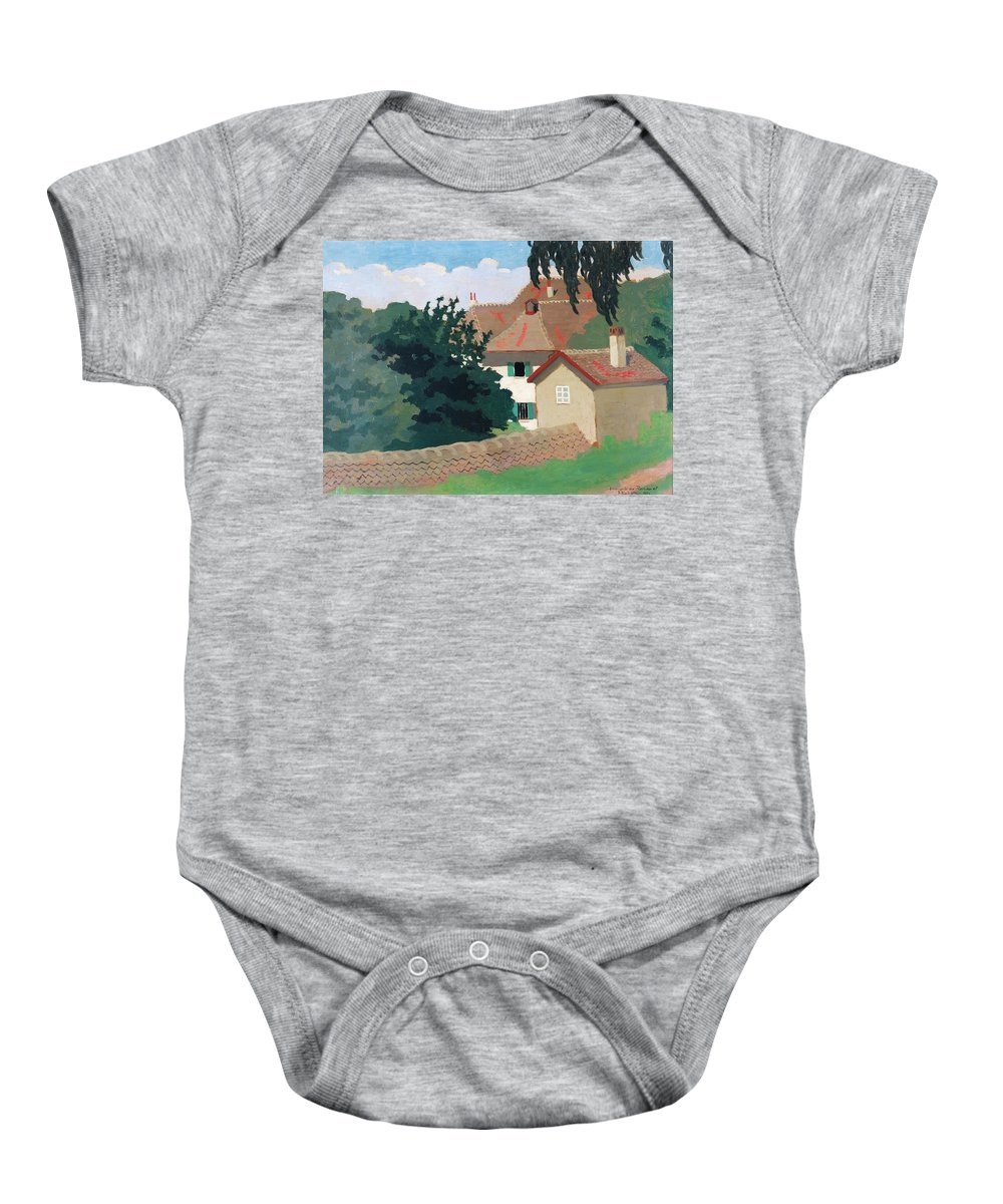 Félix Vallotton 1865 - 1925 Souvenir De Romanel Baby Onesie featuring the painting Souvenir De Romanel by MotionAge Designs