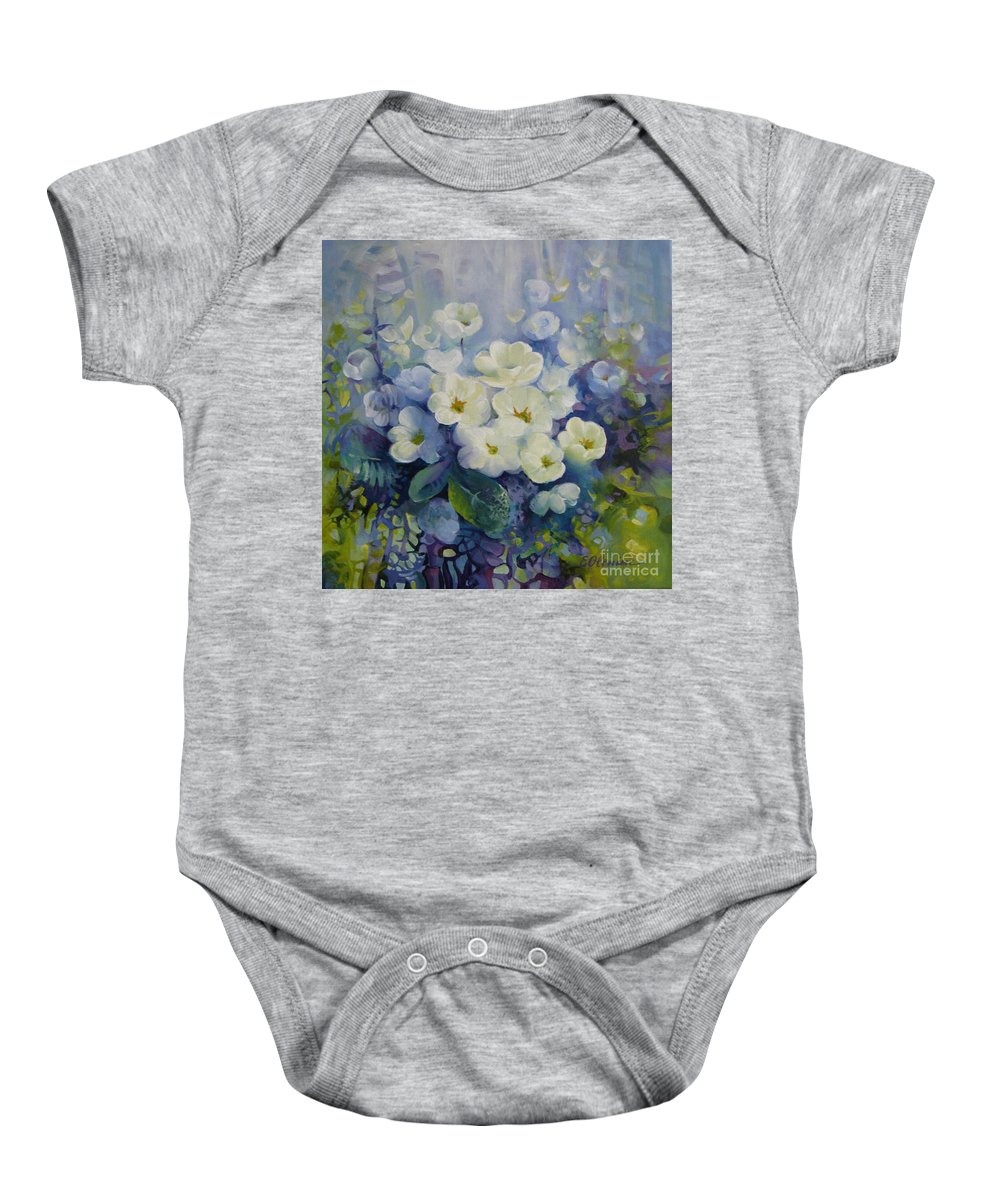 Primrose Baby Onesie featuring the painting Spring by Elena Oleniuc