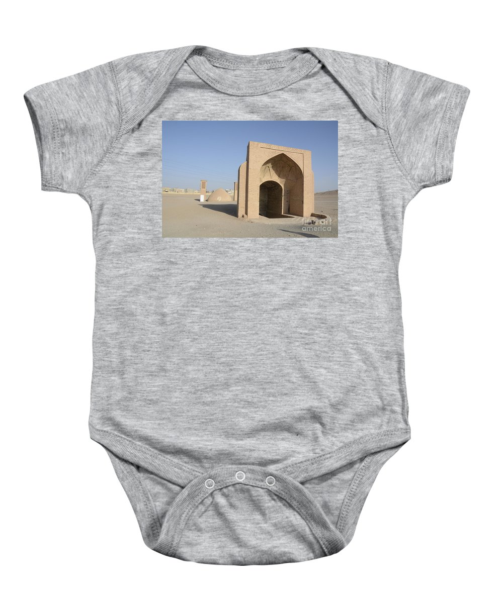 Iran Baby Onesie featuring the photograph Towers Of Silence. Yazd, Iran by Catherine Ursillo
