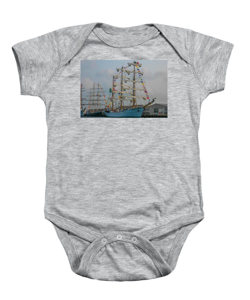 Tall Ships Baby Onesie featuring the photograph 2004 Tall Ships by Dale Powell