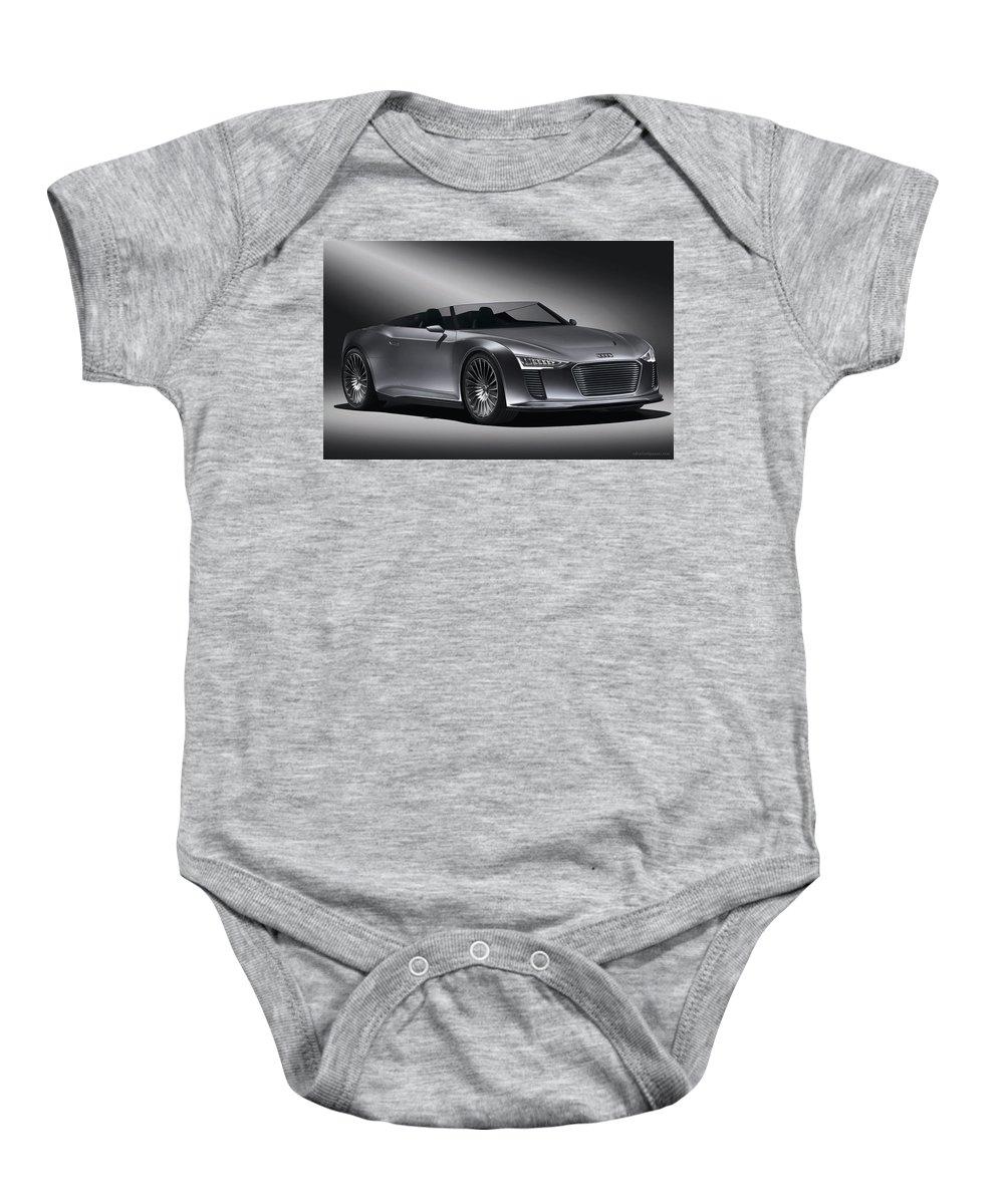 Baby Onesie featuring the digital art 2011 Audi Etron Spyder by Alice Kent