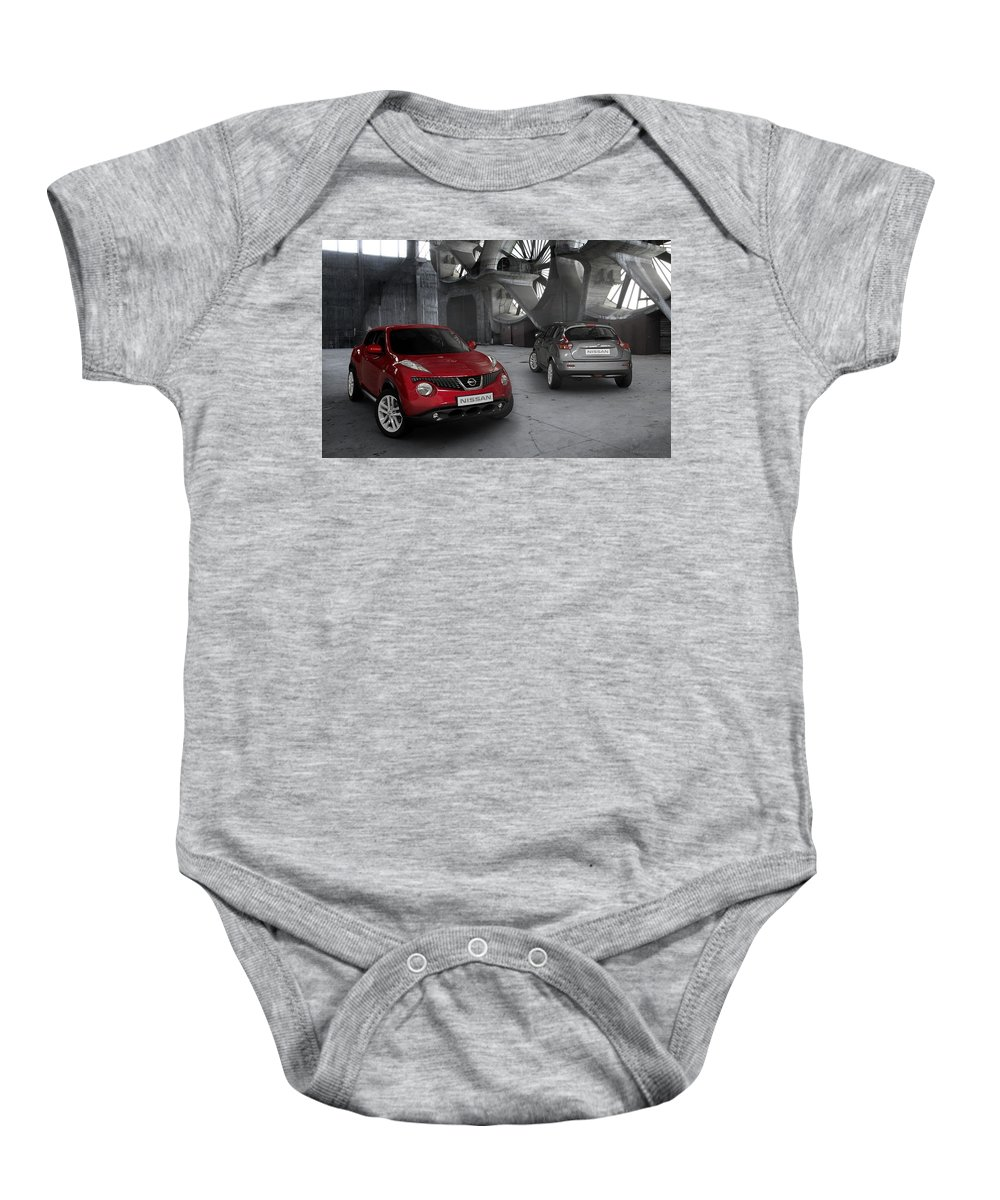 Baby Onesie featuring the digital art 2011 Nissan Juke 4 by Alice Kent