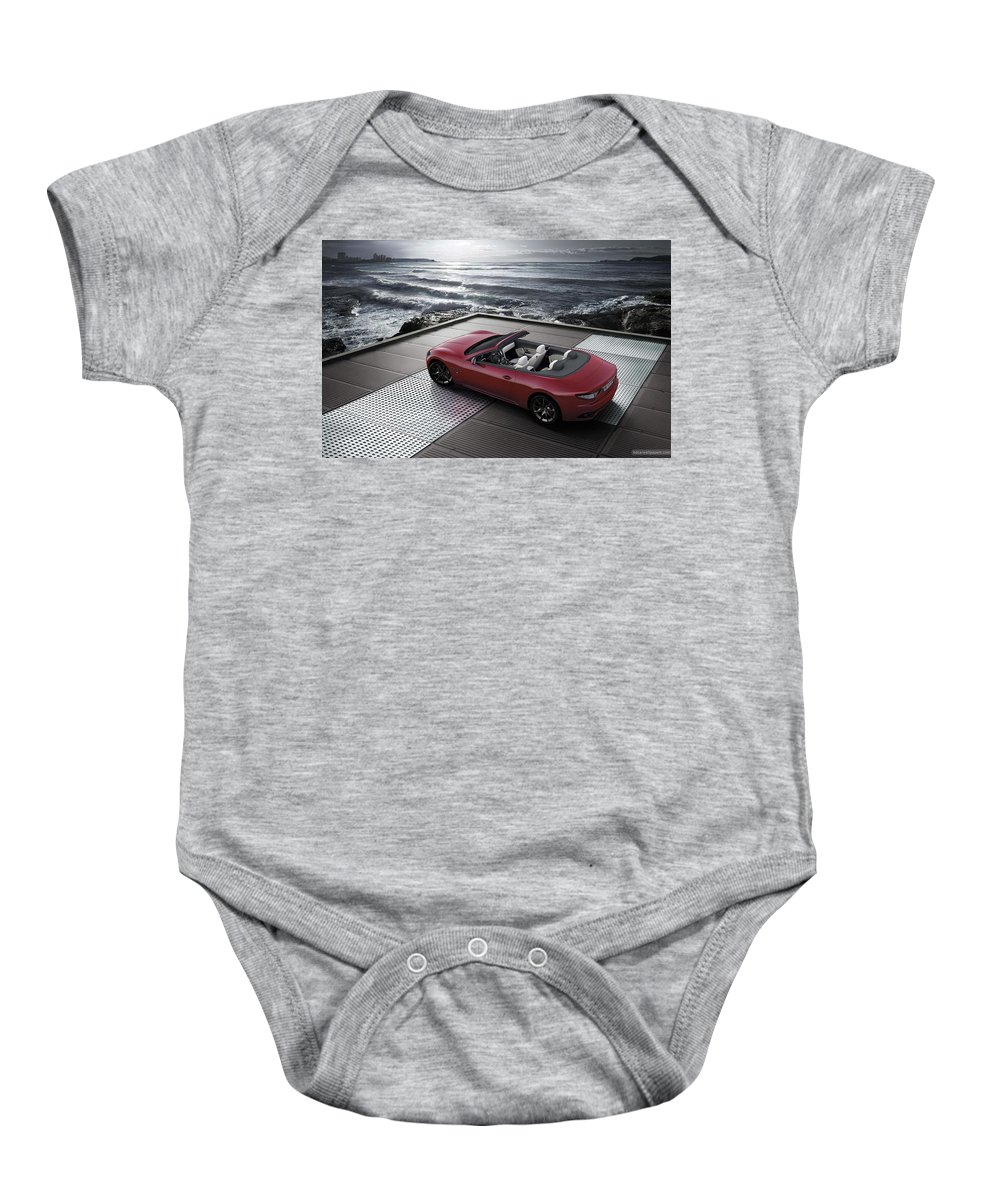 Baby Onesie featuring the digital art 2012 Maserati Grancarbio Sport 3 by Alice Kent