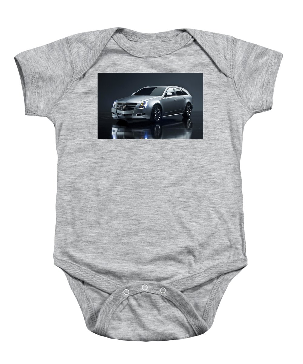 Baby Onesie featuring the digital art 2014 Cadillac Cts Sport Wagon by Alice Kent
