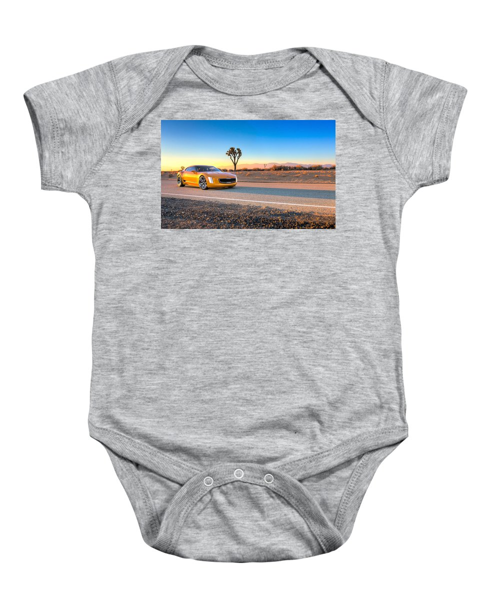 Baby Onesie featuring the digital art 2014 Kia Gt4 Stinger Concept by Alice Kent