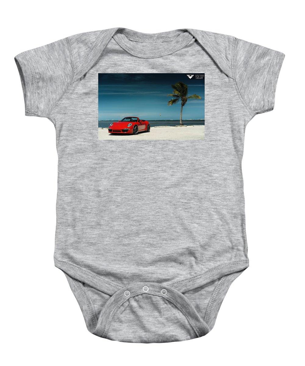 Baby Onesie featuring the digital art 2015 Vorsteiner Porsche 911 Carrera 4s Vff 104 2 by Alice Kent