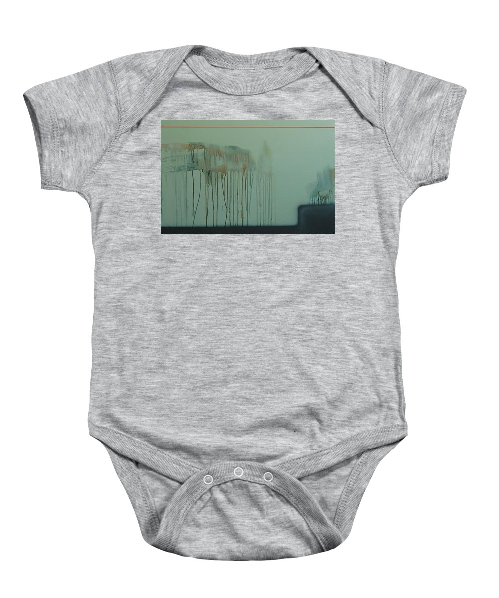 Abstract Expressionism Baby Onesie featuring the painting 2017 by Philip Fleischer