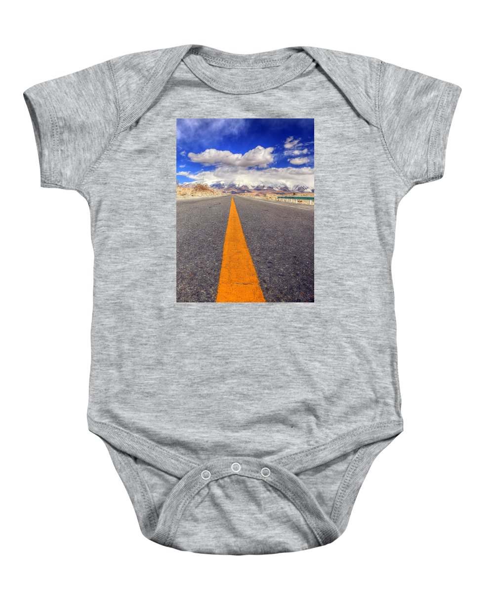Xinjiang Province China Baby Onesie featuring the photograph Xinjiang Province China by Paul James Bannerman