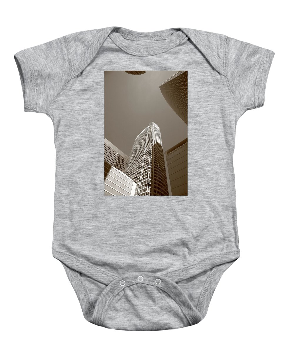 America Baby Onesie featuring the photograph Chicago Skyscrapers by Frank Romeo