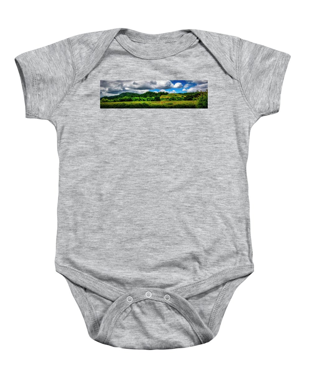 Californai Baby Onesie featuring the photograph 2623- Comsrock Winery by David Lange