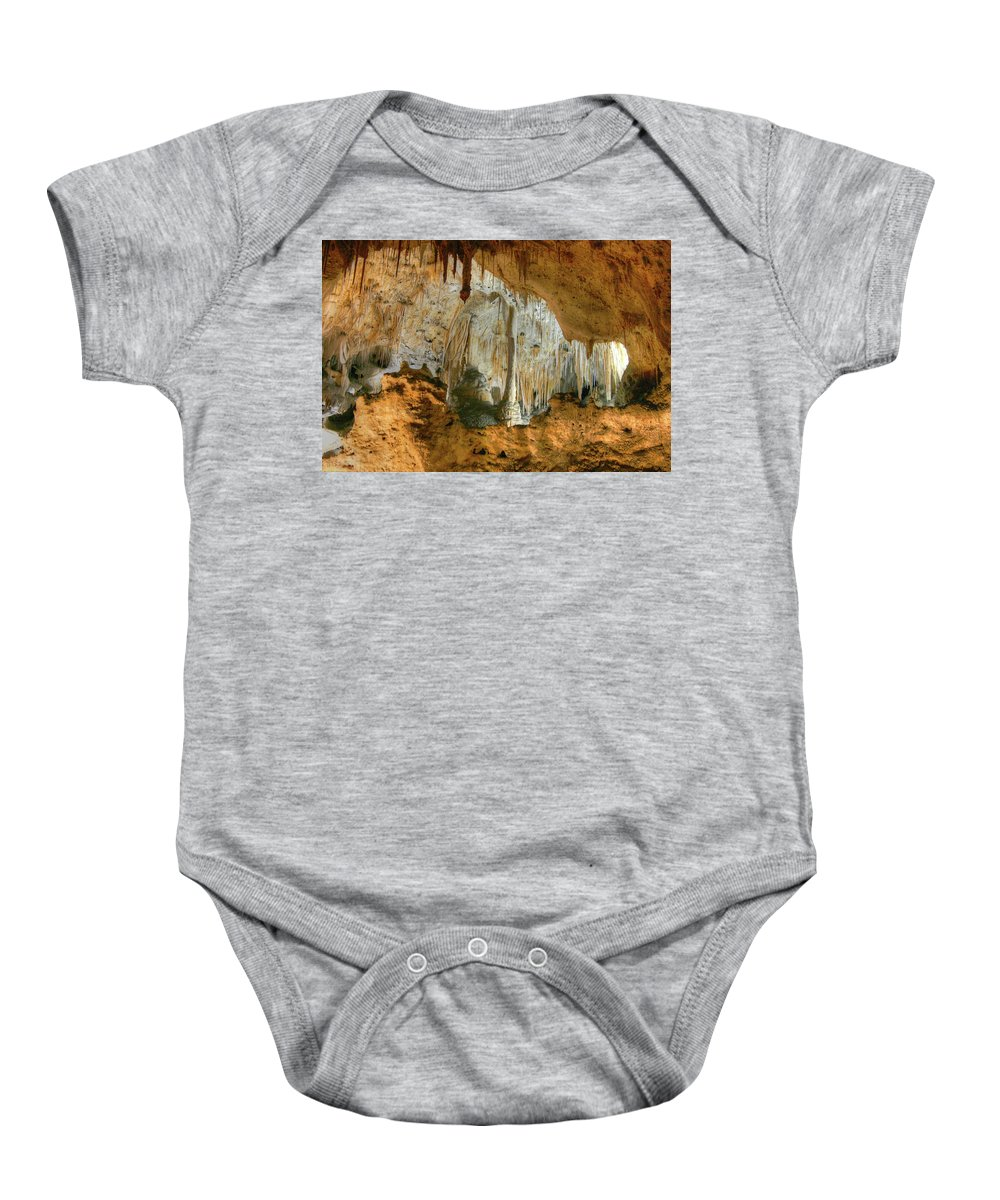 Carlsbad Caverns Baby Onesie featuring the photograph Carlsbad Caverns by Michael Munster