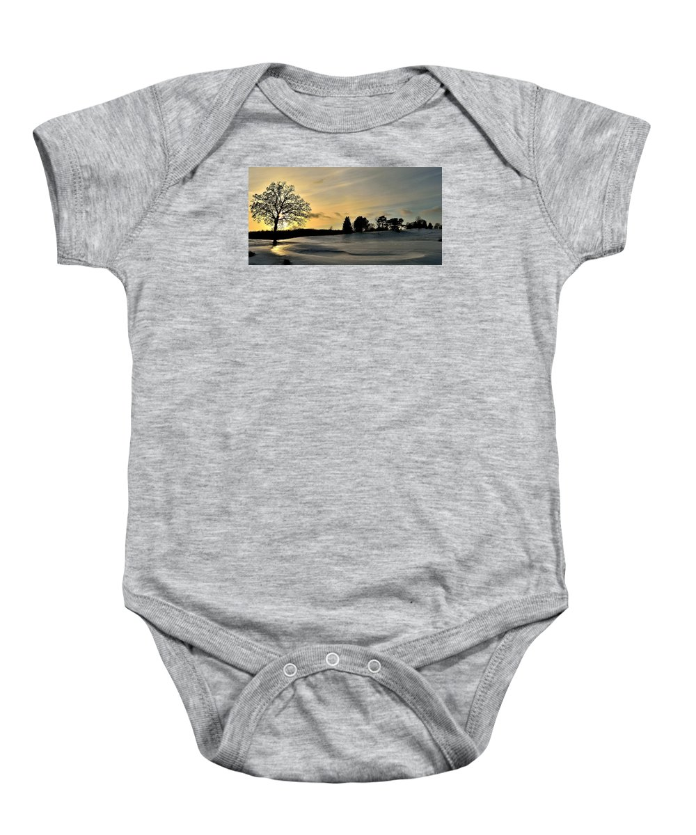 Baby Onesie featuring the photograph Ellis Park - Cedar Rapids, Ia by Sherri Hasley