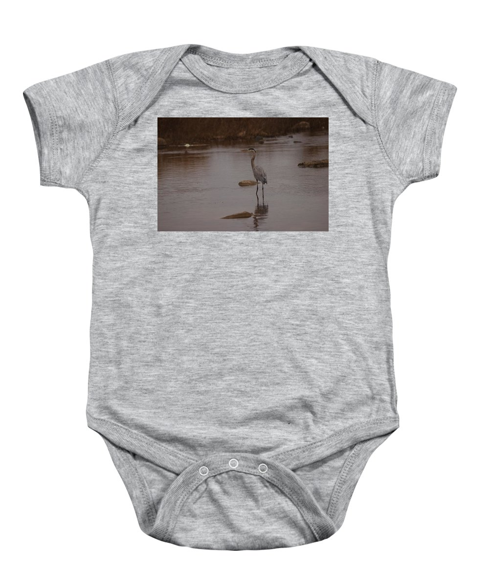 Great Baby Onesie featuring the photograph Great Blue Heron by James Smullins