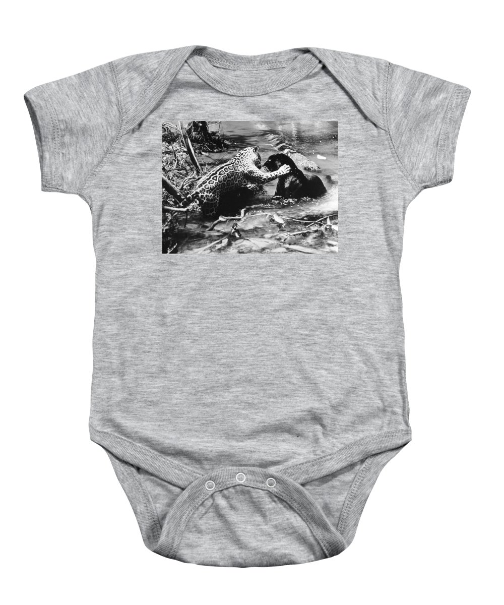 20th Century Baby Onesie featuring the photograph Jaguars by Granger