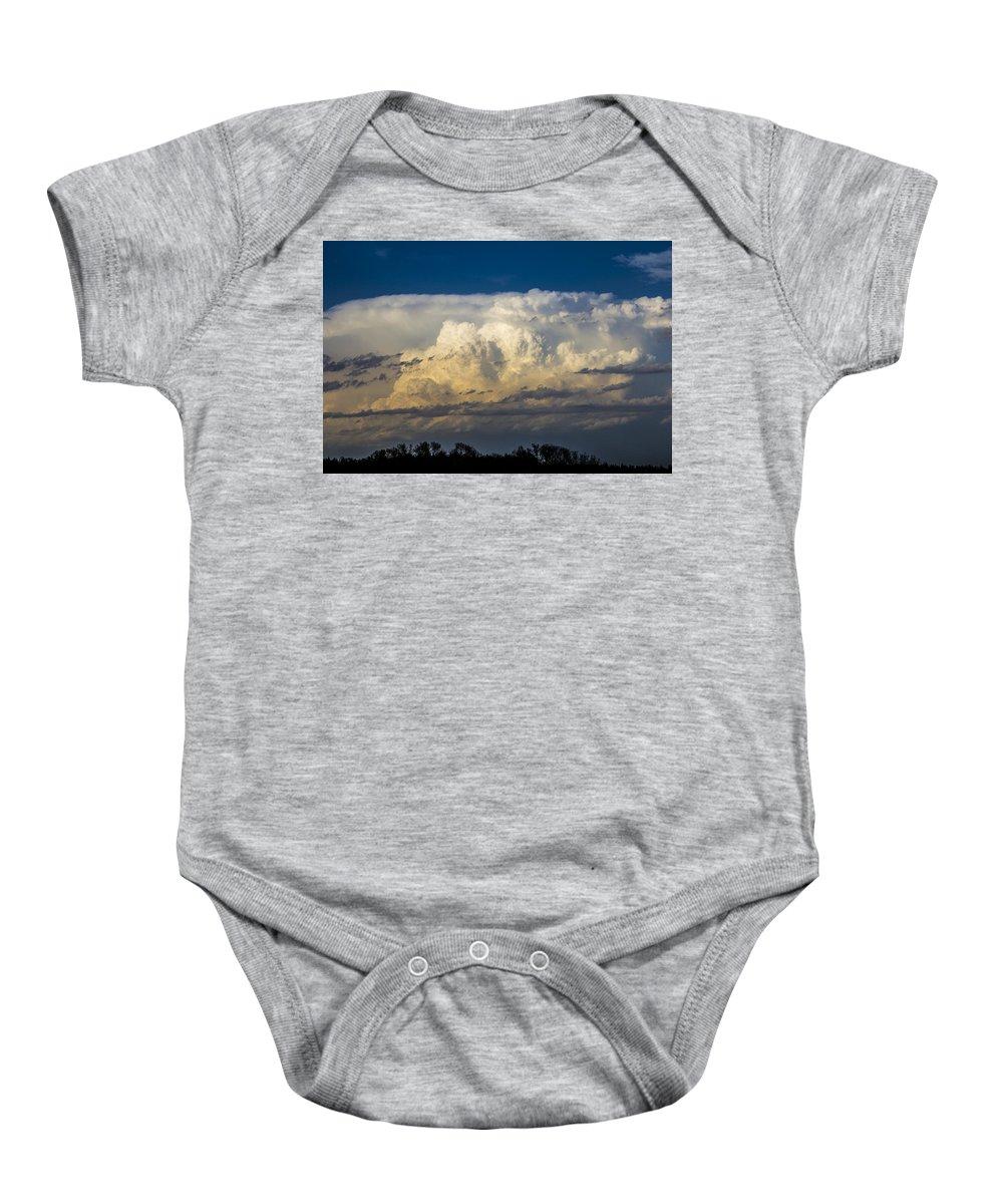 Nebraskasc Baby Onesie featuring the photograph May Nebraska Storm Cells by NebraskaSC