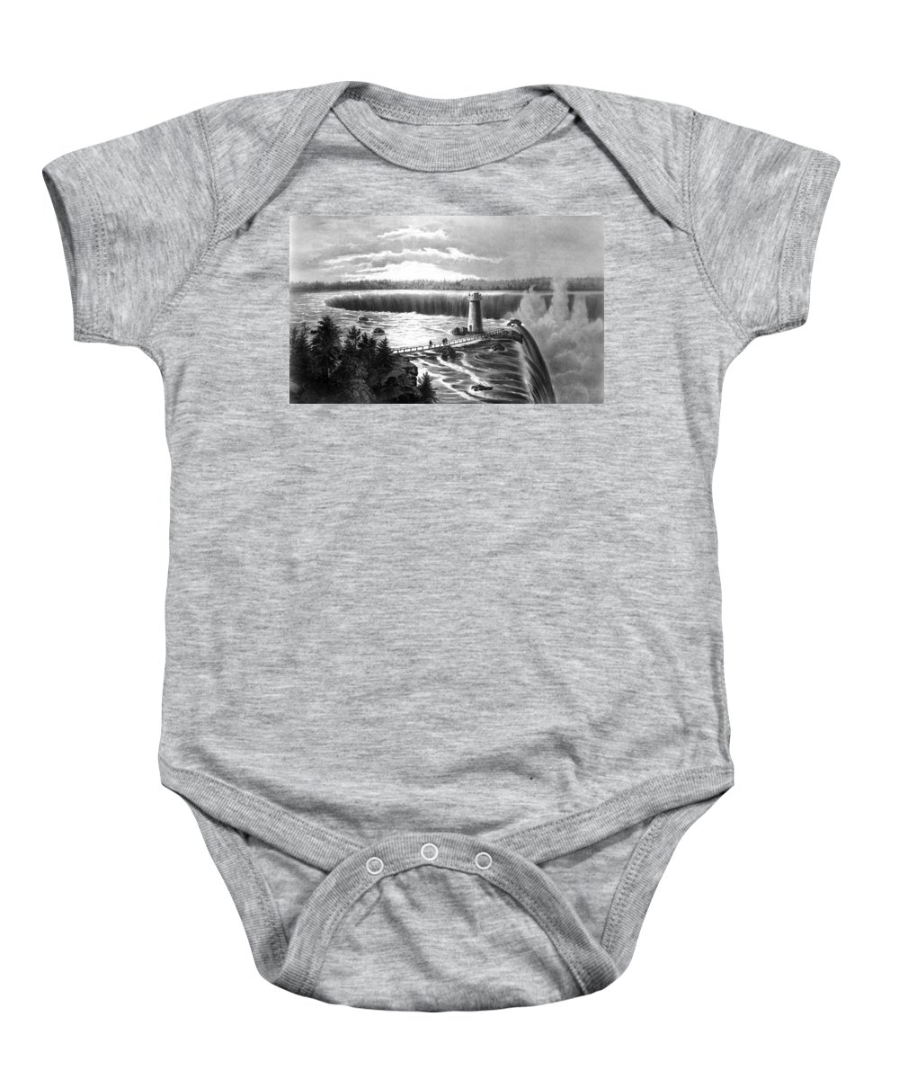 19th Century Baby Onesie featuring the photograph Niagara Falls by Granger
