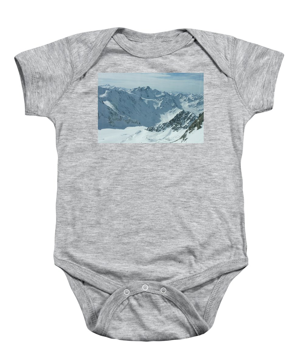 Pitztal Glacier Baby Onesie featuring the photograph Pitztal Glacier by Olaf Christian