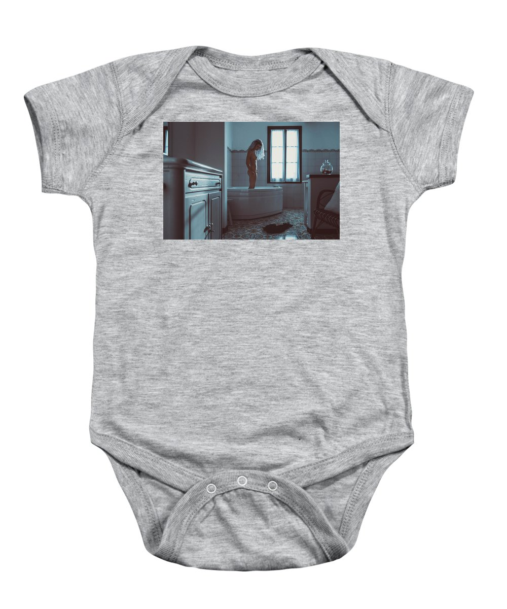 Adult Baby Onesie featuring the photograph Tu M'as Promis by Traven Milovich