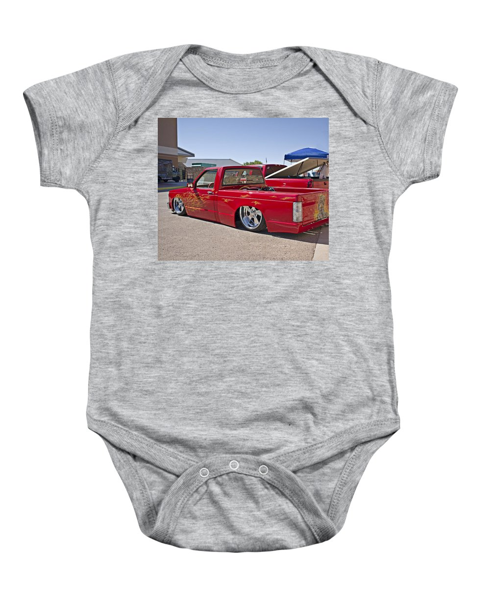 1982 Baby Onesie featuring the photograph 1982 Chevy S10_1a by Walter Herrit